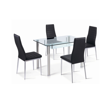 Modern Black Rectangular Tempered Clear Glass Top Living Room Table Glass  Dining Table - Buy Modern Rectangular Tempered Dining Table,Glass Dining ...