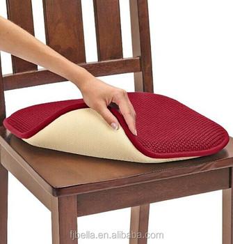 Memory Foam Chair Pad Set Cheap Foam Seat Chair Pad Cushion   Burgundy