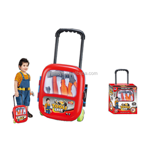 Role Play Toys Mechanic Bricolage Tool Box Set for Kids Education Draw-bar Box