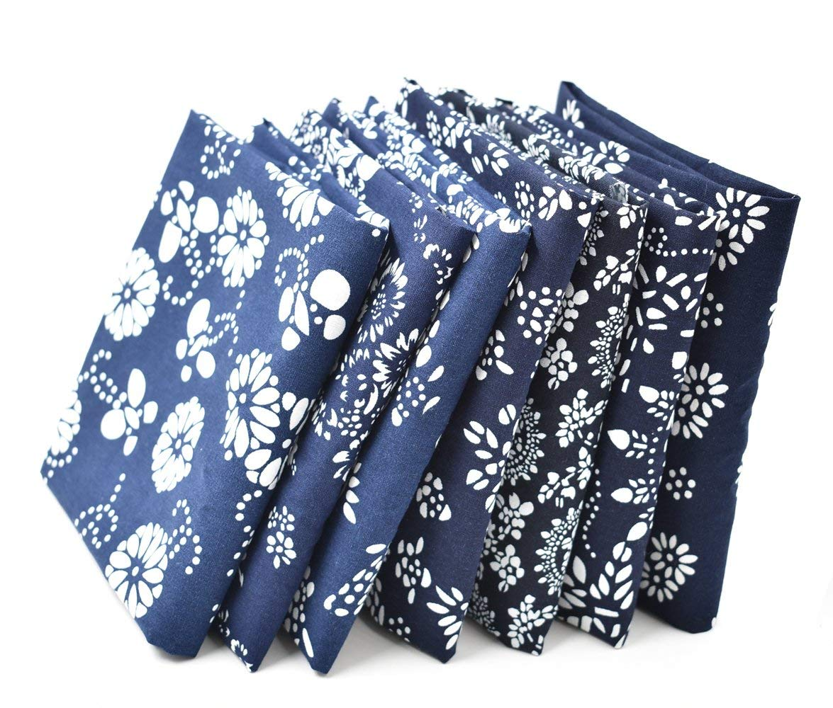 fdcc8b88f32 Get Quotations · RayLineDo 7X Different Blue Pattern Chinese Han Folk  Traditional Printed Craft Pure Cotton Fabric Fat Quarter