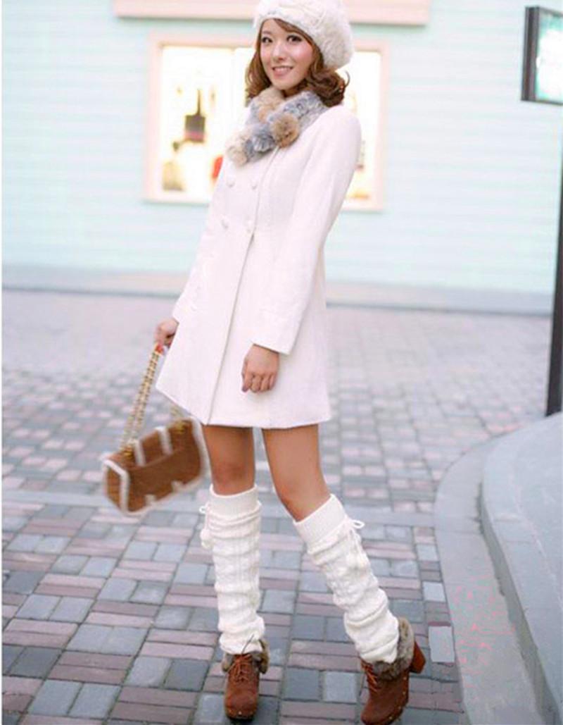 Горячая распродажа Новый стиль женщин вязания трикотажные гетры зима осень загрузки манжеты трикотаж носки свободного покроя вязать гетры носок
