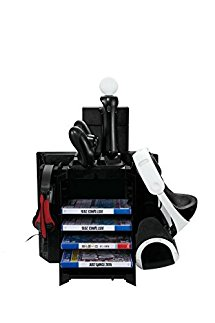 Vertical Stand for PS4/PS4 PRO/PS4 SLIM, FastSnail Cooling Fan Controller Charging Station with Game Storage and Dualshock Charger, Display Stand for PS4 VR Display Stand