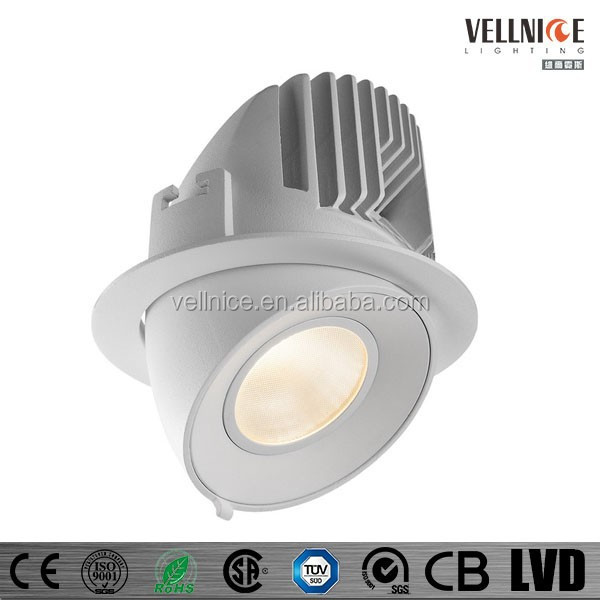 Adjustable 30w 20w 15w Citizen Cob Led Recessed Downlight ...