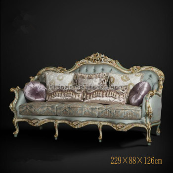 Le Hand Tufted Queen Anne Living Room Sofa Set Exquisite Wood Carved 3 Seater