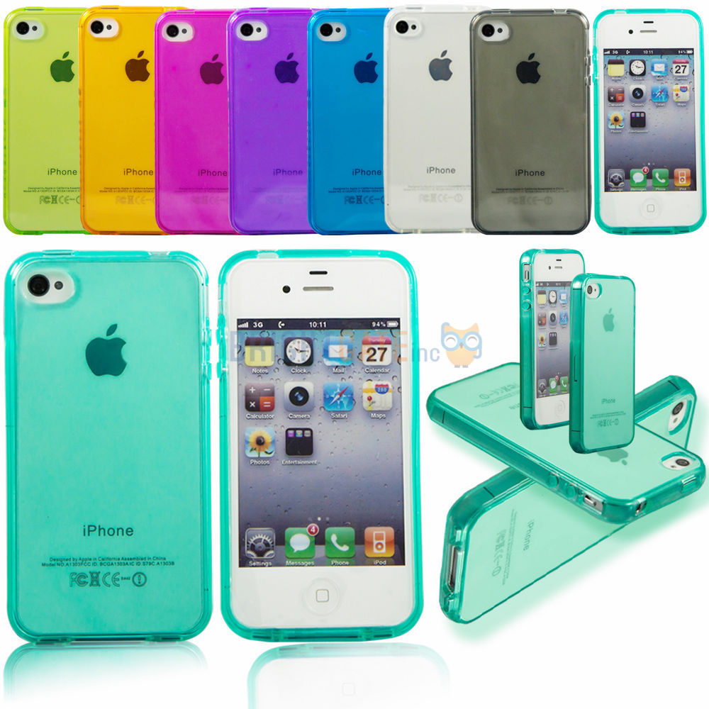 reputable site 4f219 c0d03 Ultra thin Colorful Transparent CLEAR JELLY TPU Gel Soft Silicone ...