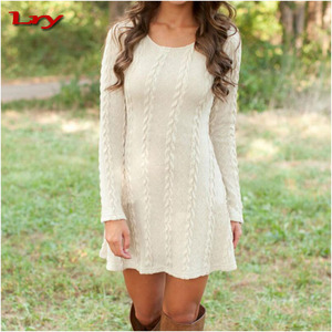 New autumn and winter long pullovers womens bandage sweater dresses thickening available knit lady sweater OEM way
