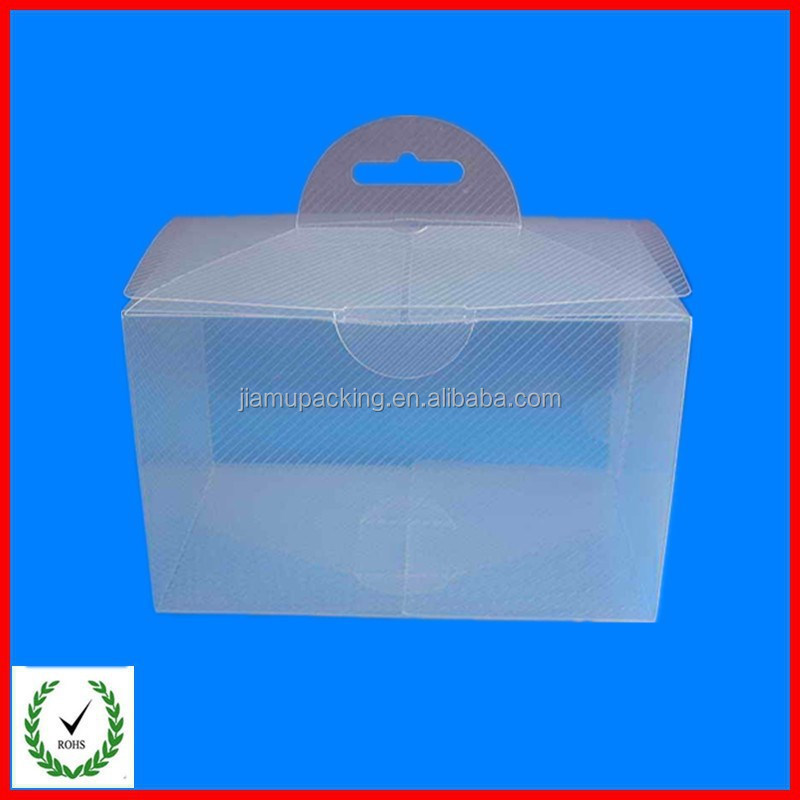 PP plastic folding box with handing hole/hot-sale folding box with clear window