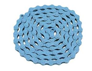 KMC Chain 1/2x1/8x112 Blue. for bicycle Chain, bike chain, lowrider bikes, beach cruiser, chopper, limos, stretch, bmx, track fixie bicycles
