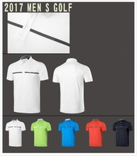 Design sportswear embroidered golf man polo short t-shirt