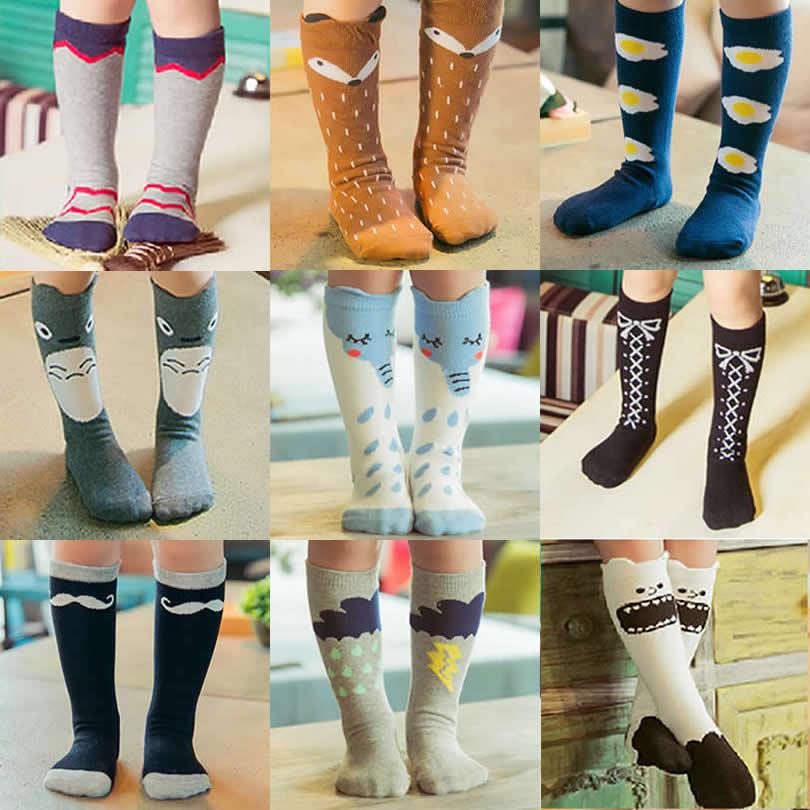 Kids Fox Socks knee high Toddler Boot Sock leg warmer Totoro socks Girl Collant enfant Children