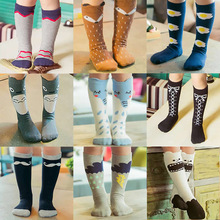 Kids Fox Socks knee high Toddler Boot Sock leg warmer Totoro socks Girl Collant enfant Children Chaussette Cute Moustache Socks