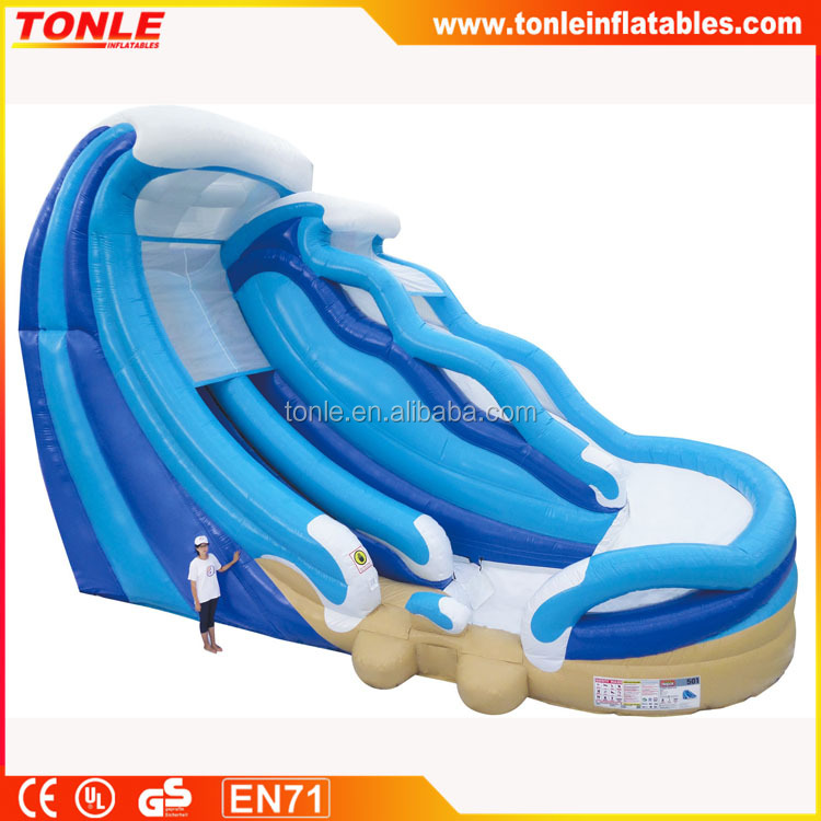commercial giant 26' inflatable Double Water Slide for sale