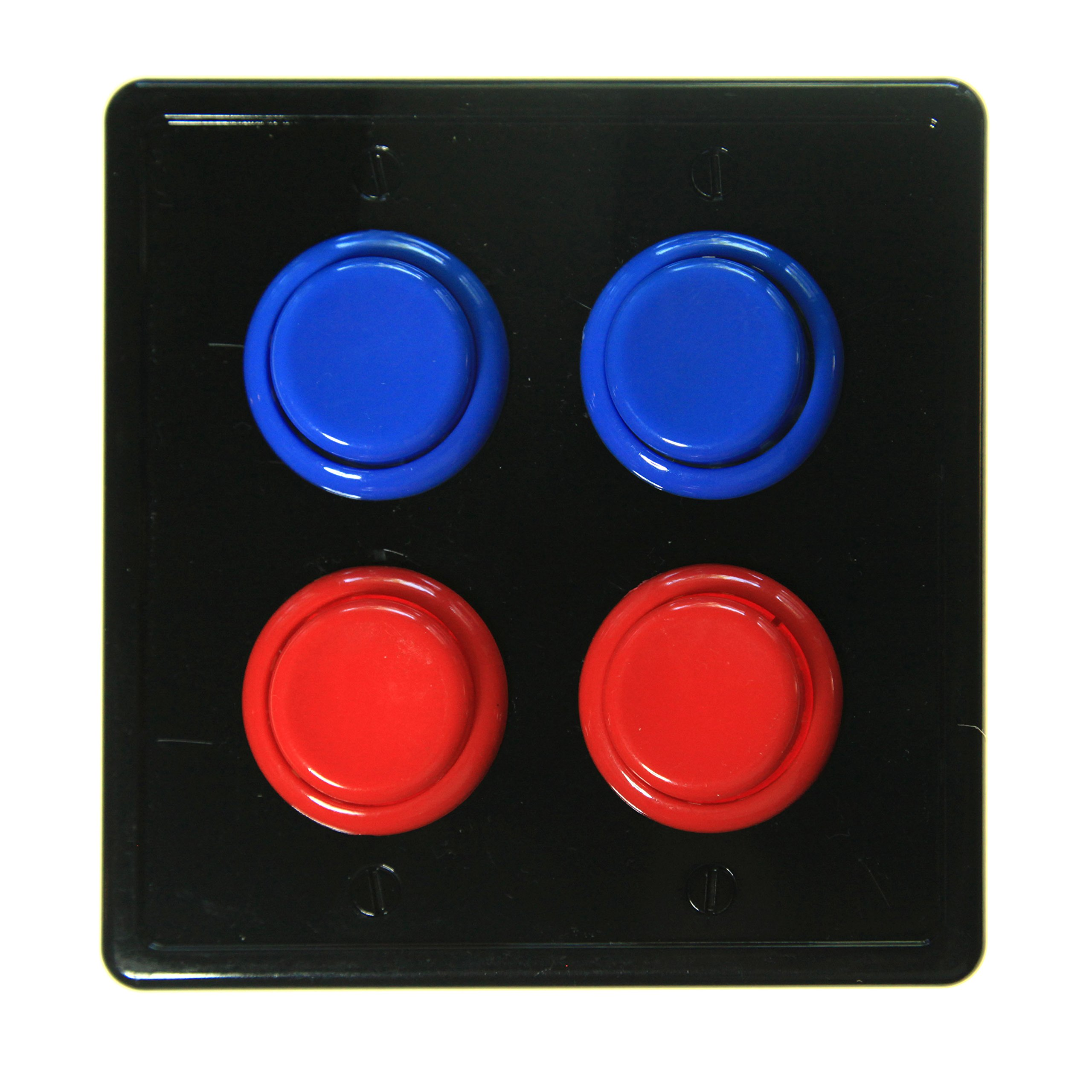 Get Quotations Arcade Light Switch Plate Cover Black Red Blue Double