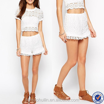 China Wholesale Cheap Custom Sexy Women Shorts High Waist Crochet ...