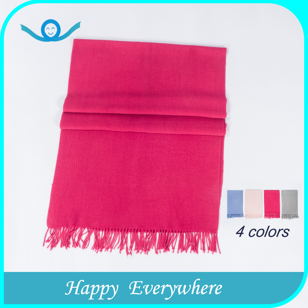 China supplier provide Acrylic solid color women scarf