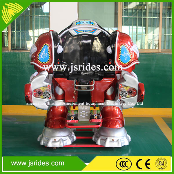 Kids funny games product cheap walking robot rides for sale
