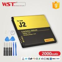 Shenzhen OEM WST 2000MAH mobile Phone Battery For Sam J2 Battery