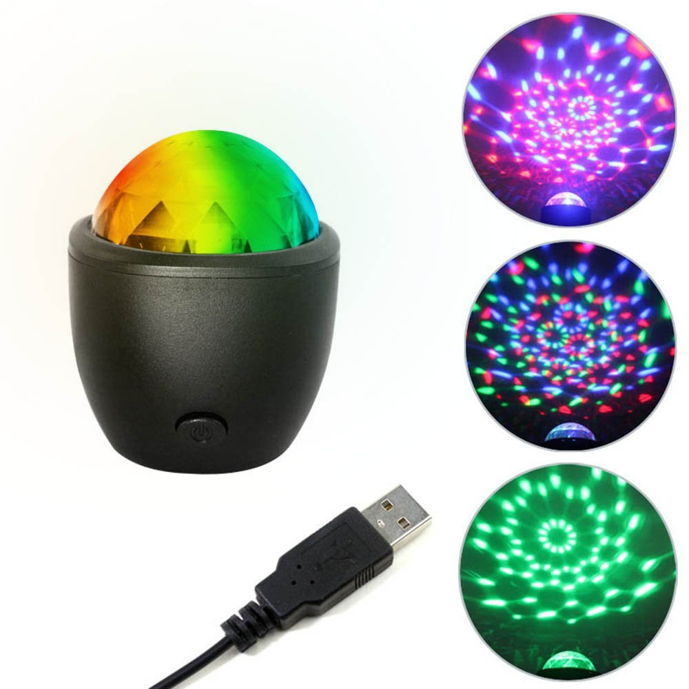 AOLVO Disco Party Lights,AOLVO Sound Activated Party Lights,Mini Auto Flash RGB Stage Lights With 7 Changing Color For DJ Disco Ball Club Party Karaoke Wedding Show and Outdoor,USB Powered