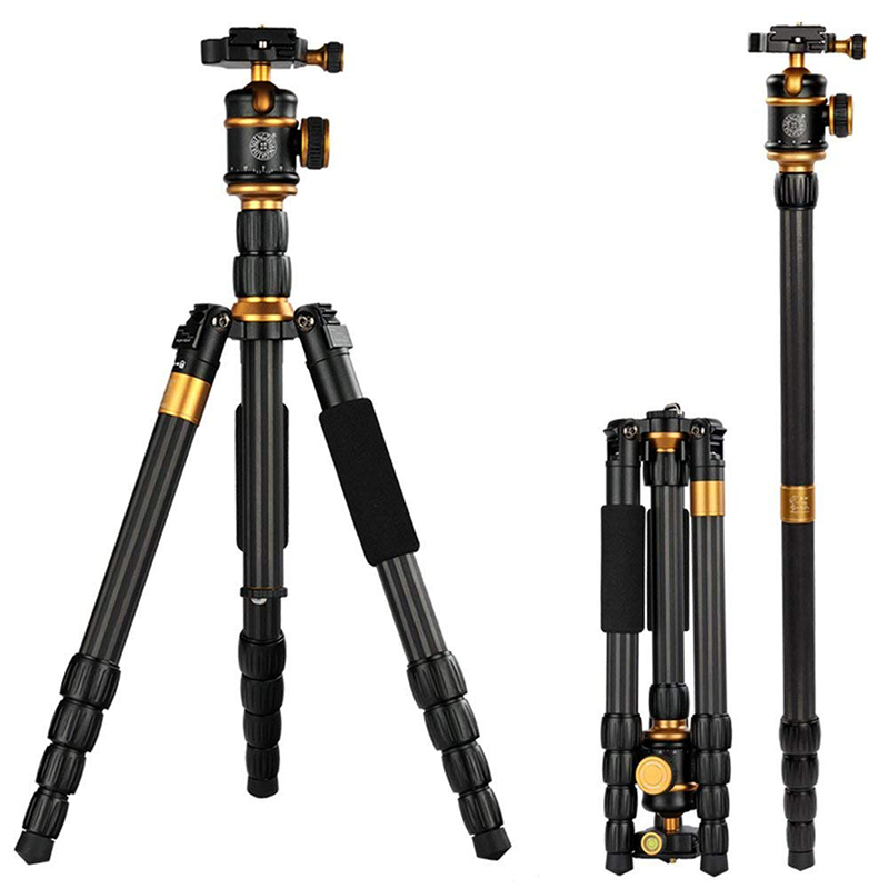 China supplier Q888C professional carbon fiber camera monopod tripod for camera