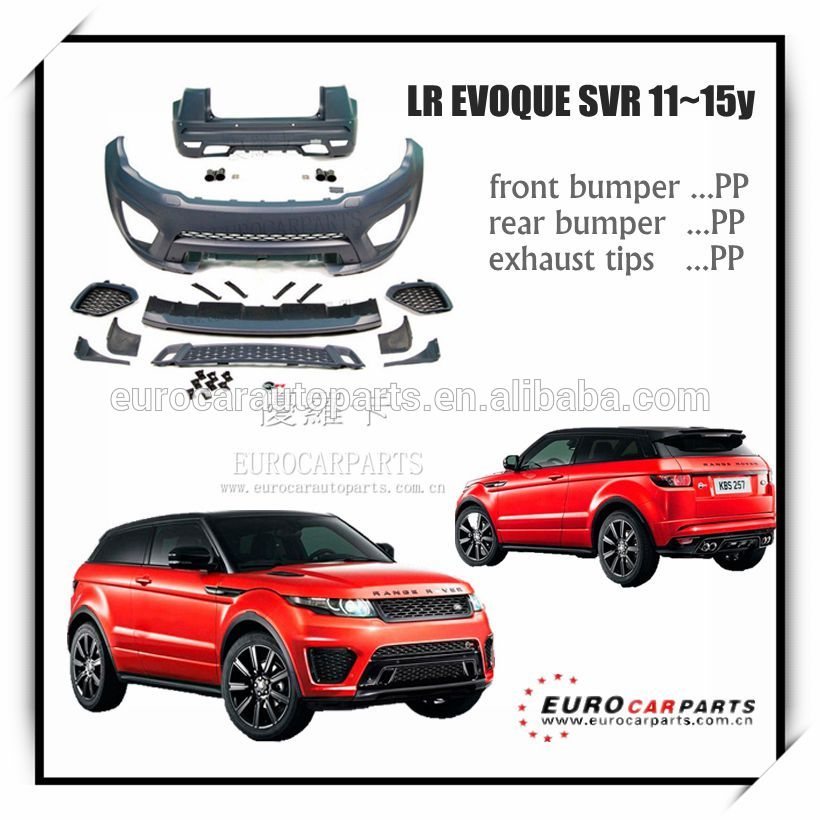 On Promotion Rover 11 15y Body Kits For Range Evoque Svr Style 2011