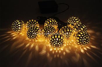 Solar Snowflake Lamps Led Lights Outdoor Yard Light Waterproof Grape Christmas Droplight Metal Ball Lamp