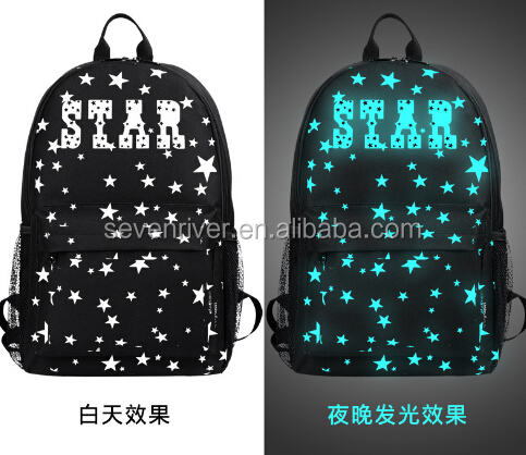 New fashion handbag luminous backpack rucksack recreational, a primary school pupil's school bag