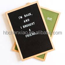 Slotted green Felt Letter Board for wholesale,black Felt letter board with many felt color, Changeable black felt letter board