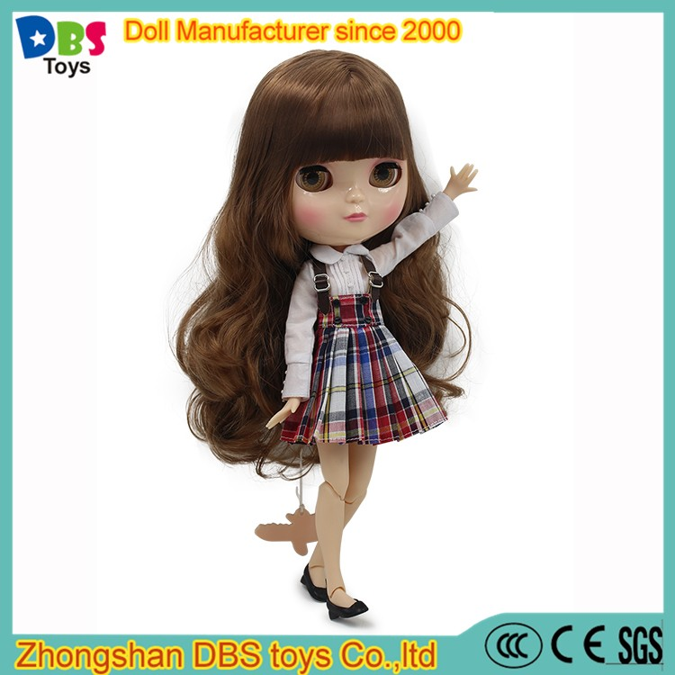 (YW-ICY170103) Wholesale eye Changeable brown hair fashion blythe <strong>doll</strong>