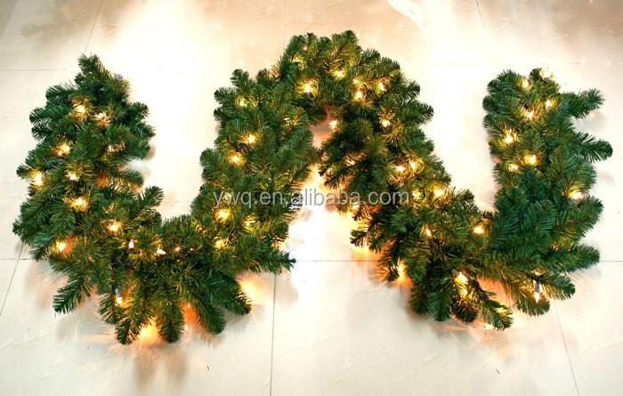 Prelit Christmas Garland 9ft Long Christmas Ball Garland