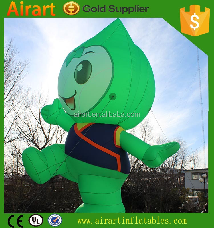 customized giant inflatable vegetable cartoon character for advertising uesd