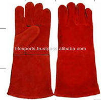 14 inches non-lining cow split leather hand leather gloves/welding gloves/work gloves