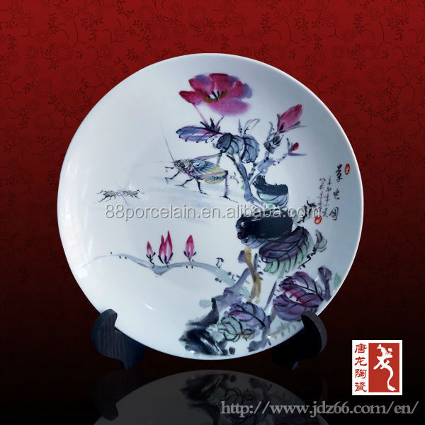 Porcelaine de Jingdezhen fabrication gros grande assiettes ...