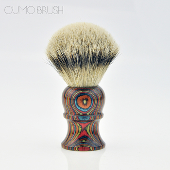 OUMO-New own design wooden handle super badger hair shaving brush and stand set - highest quality badger hair