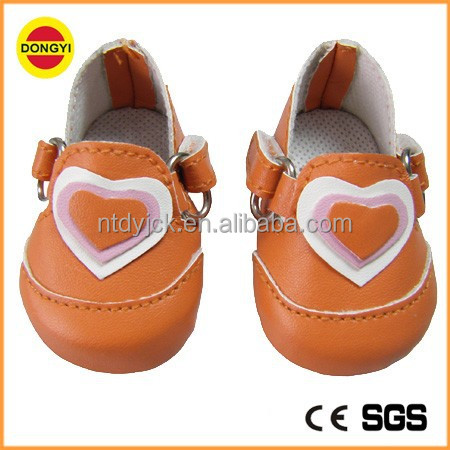 Orange 18 inch america girl doll dress shoes
