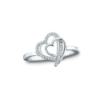 3a3b918c01 925 Sterling Silver Ring Double Heart Imprint Rings - Buy 925 ...