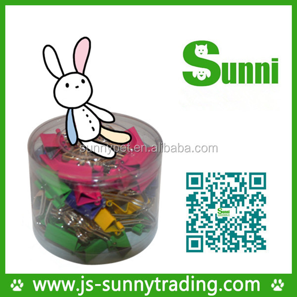 [Sunni]colorful plastic slide binder clips with the packing(size:15mm)