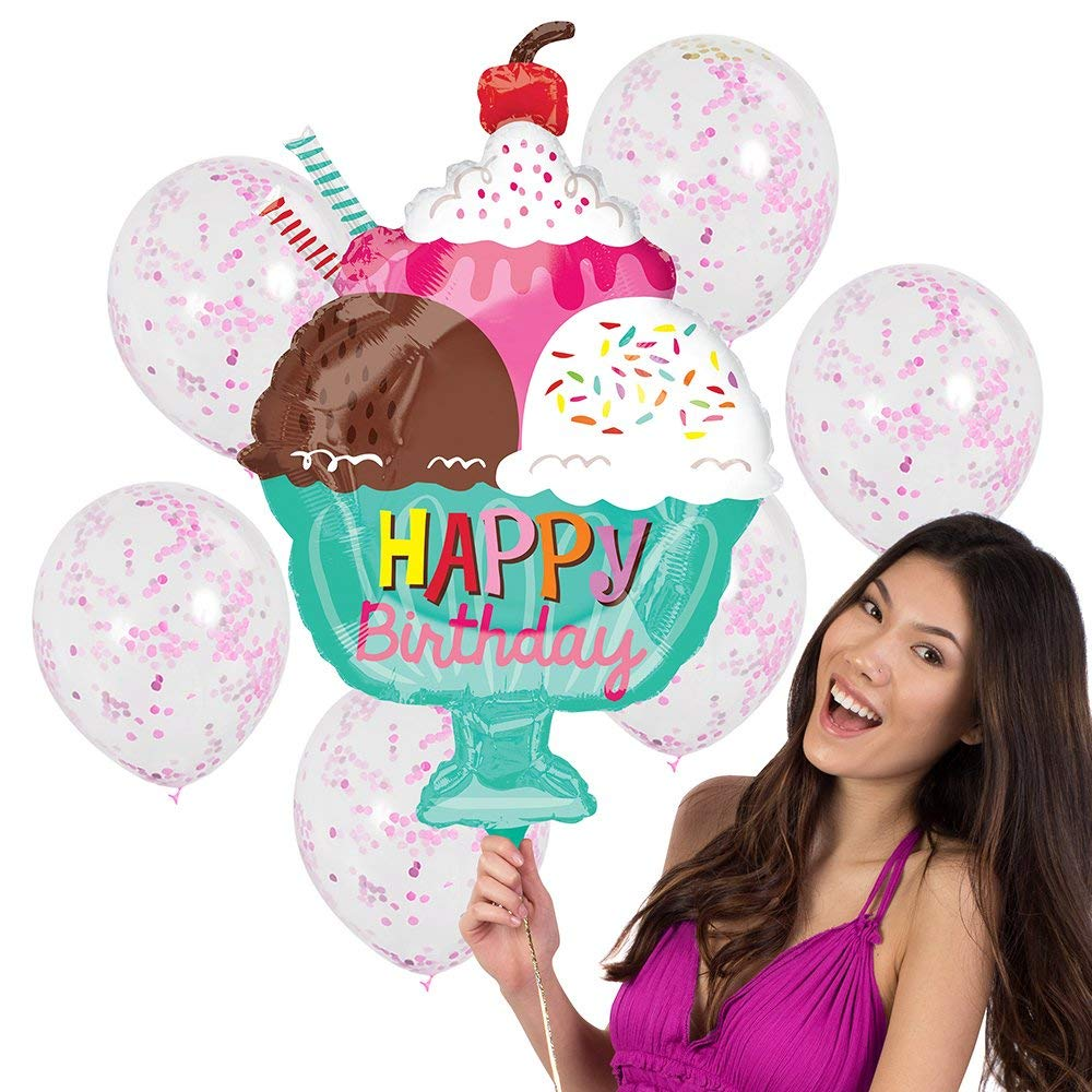 7pc Happy Birthday Balloon Bouquet