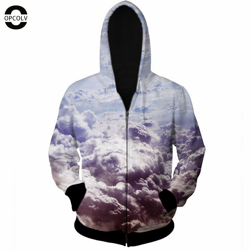 OPCOLV 2015 fashion men/women hip hop zipper 3d hoodies print white clown hoodies casual street punk 3d sweatshirts