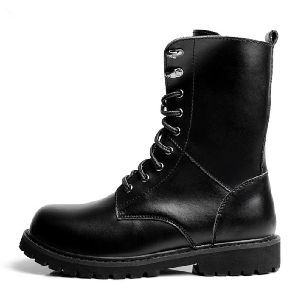 Cheap Black Combat Boots For Men - Yu Boots