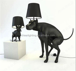2015 Latest New Modern Design Puppy Dog Table Lamp Dog Floor Lamp