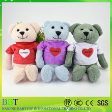 Custom 30cm valentines and mothers day gift funny teddy bear with shirt