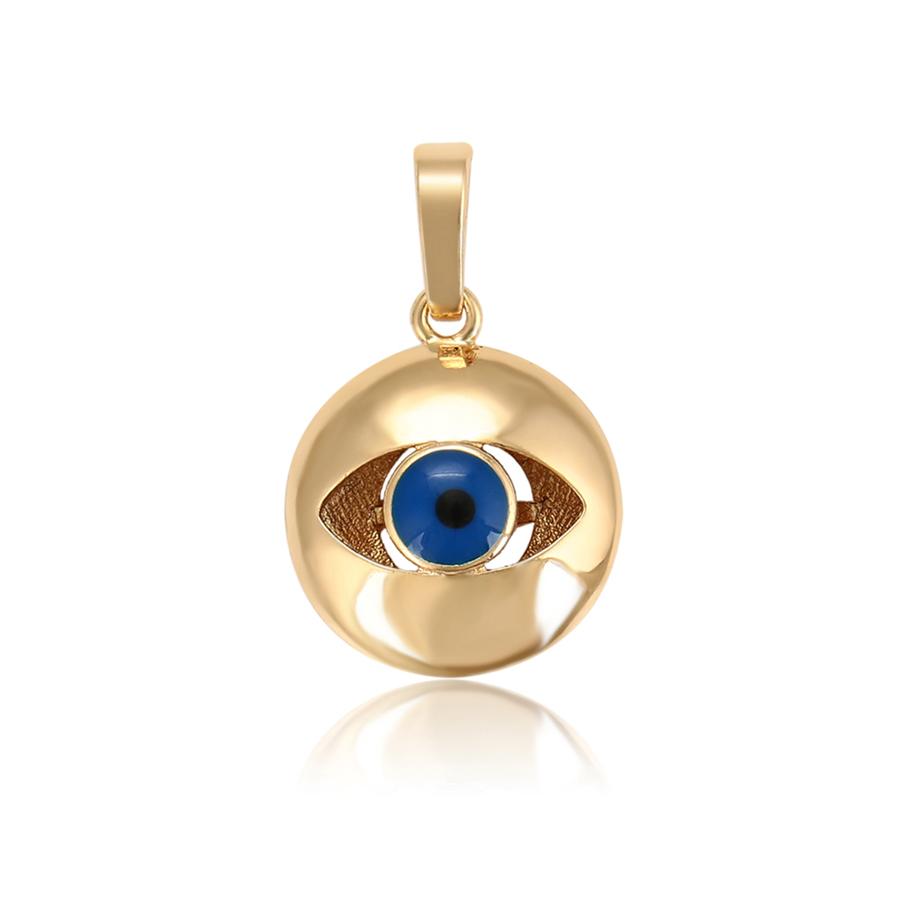 P015 xuping women gold 18k pendentif muslim turkish eye pendant China wholesale high quality jewelry