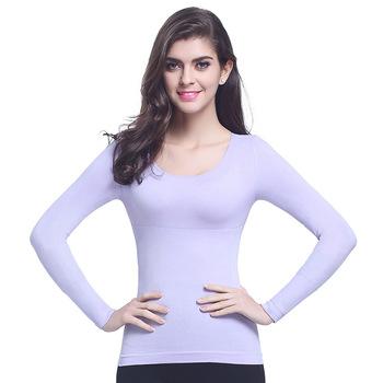 74ff32051a66e Body Slimming Shapewear Thermal Underwear Blank Women Long Sleeve T Shirt