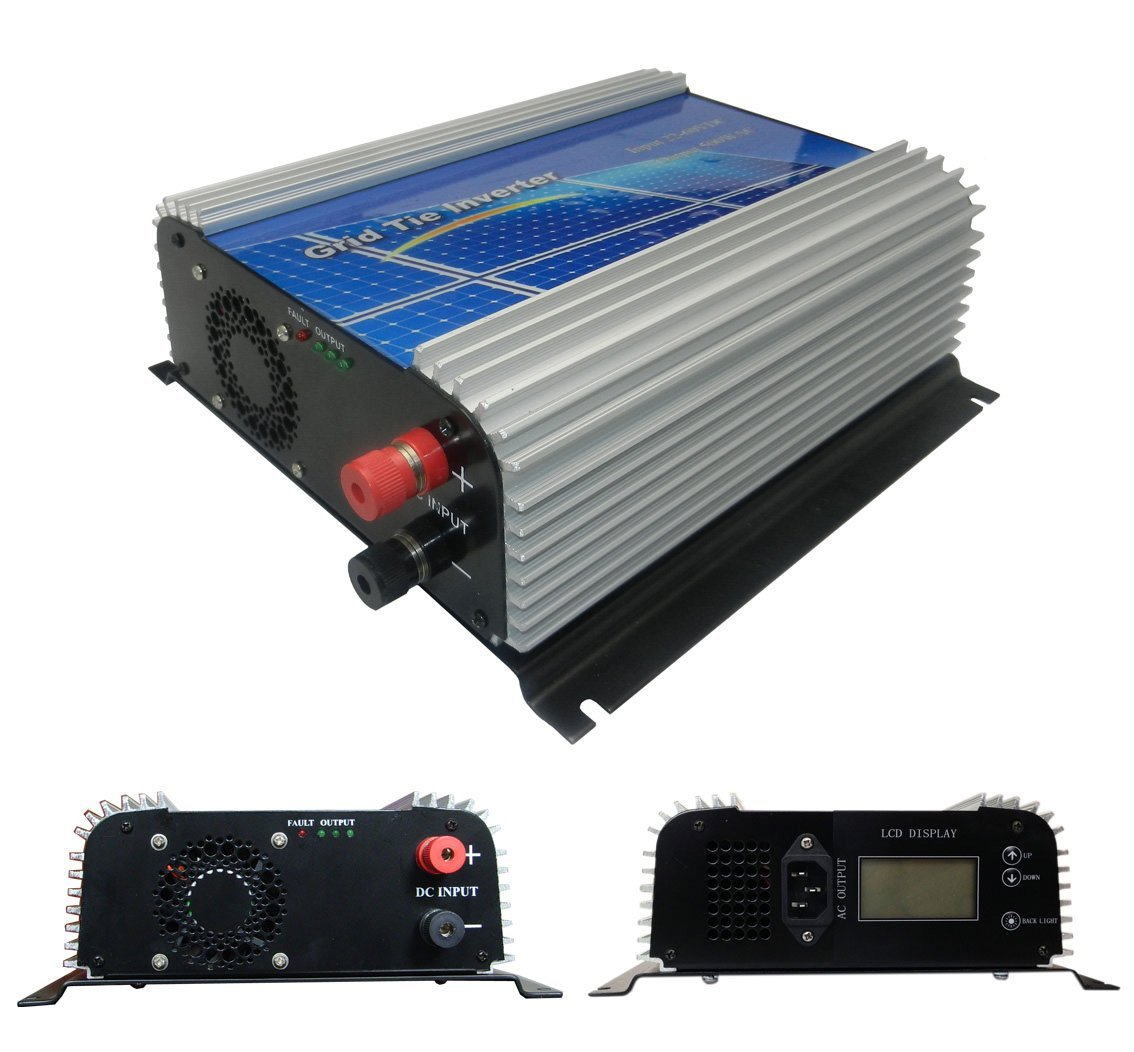 DECEN 500w High Efficiency Grid Tie Micro Inverter Output Pure Sine Wave, LCD Display 22-60vdc,110vac,60hz for Home Solar System