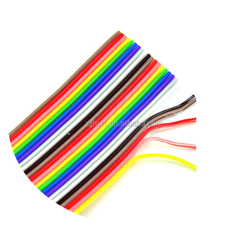 2P 3P 4P 6P 10P 20P 40P 50P 64P Colorful Flat Ribbon Cable Rainbow Cable Made In China