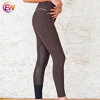 Horse Women Active Silicone Grip Full Seat Breeches Riding Pants Apparel, Horse Riding Tights Clothing