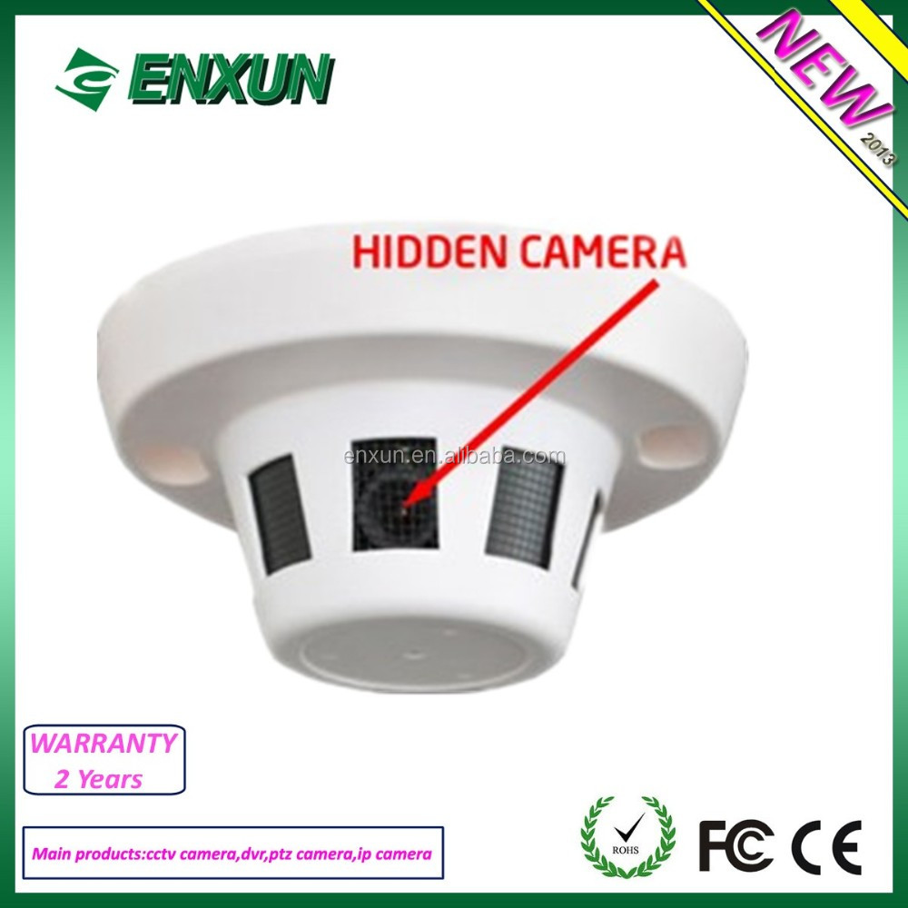 Low cost HD 1080P Smoke Detector AHD CCTV Spy Camera