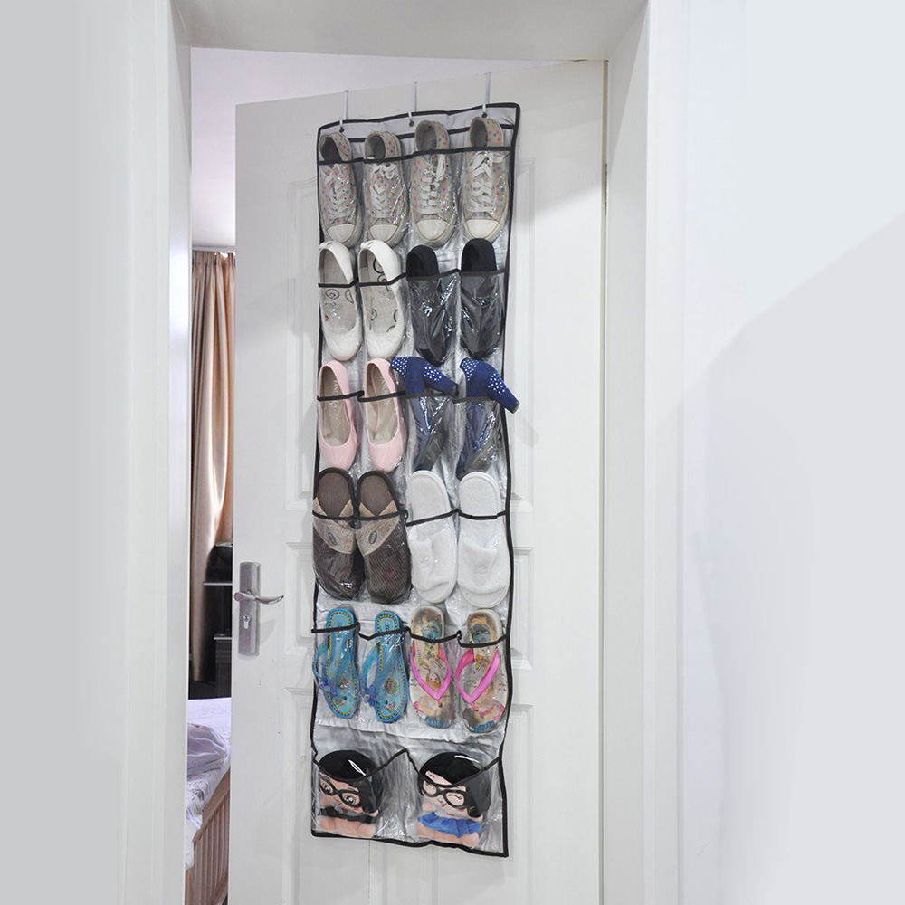22 Pockets Multi Purpose Shoes Organizer 6 Layers Storage Bag Transparent Hanging  Closet Foldable Door Hanging Shoes Storage Box   Buy High Quality,China ...