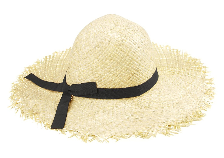 f6f24b518c4cb Get Quotations · Women Girls Foldable Bohemia Wide Brim Sun Hat Bowknot  Beach Floppy Straw Sun Hat Sun Visor