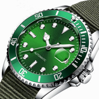 Mechanical Watch Nato Strap Luminous Dial Automatic Luxury Watches Men